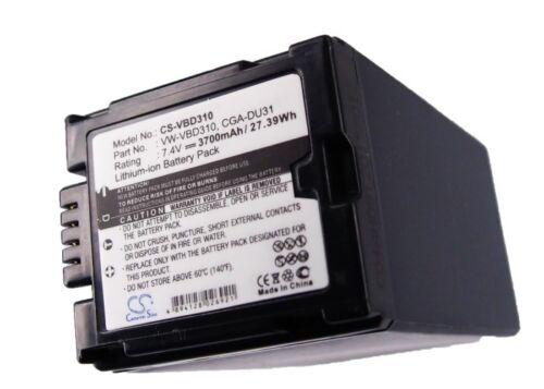Li-ion batería Para Panasonic Cga-du31 Vw-vbd310 Nv-gs180eg-s Vdr-m50pp Vdr-d300