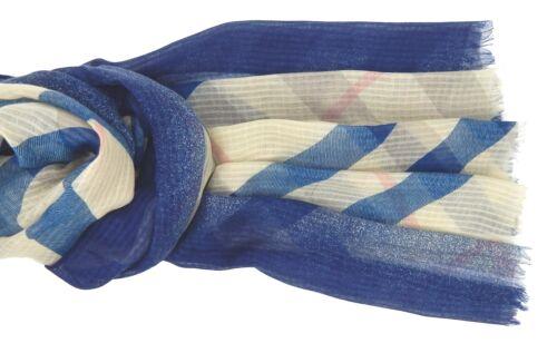 Damenschal blau beige rosé Ella Jonte breiter Schal neue Saison Viskose new in