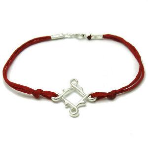 Silber Armband 925 Mit Rote Schnur B000160 Empress