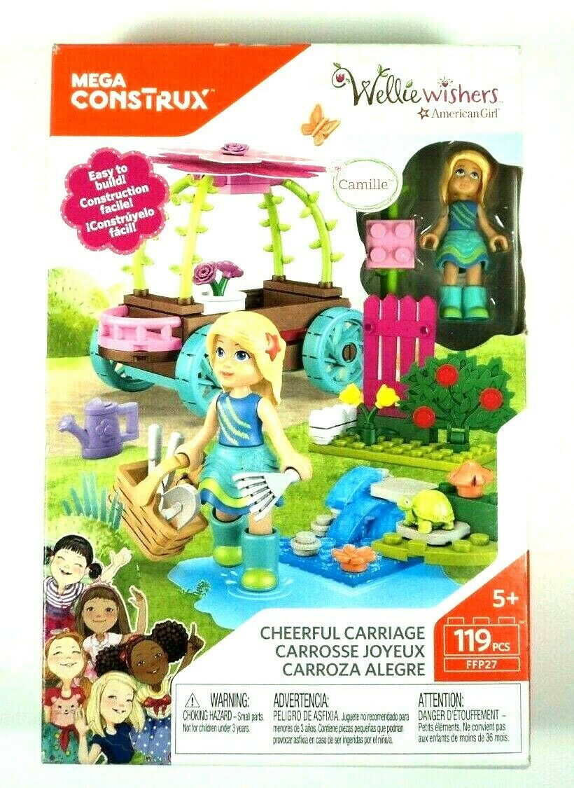 Mega Construx Welliewishers Cheerful Carriage Camille Buildable Playset