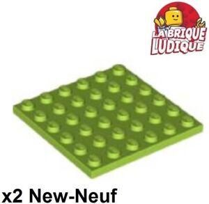 Lot x2 Lego Plaque VERT GREEN  Plate 6x6-6097194 3958