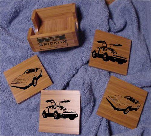 Laser Eng. Bricklin SV-1 Bamboo Coaster Set 5 pcs