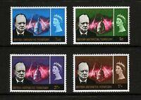 British Antarctic Territory 1966 Churchill SG 16 - 19 unmounted mint