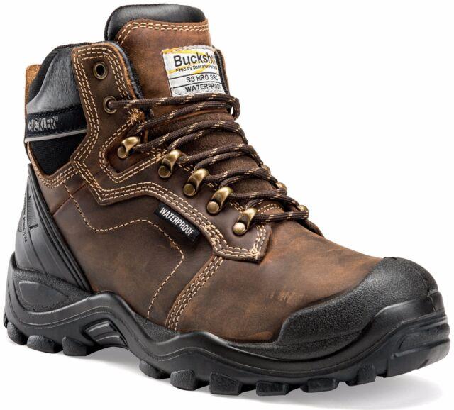 Sizes 6-13 Buckler B1990SM Buckflex Safety Dealer Work Boots Dark Brown