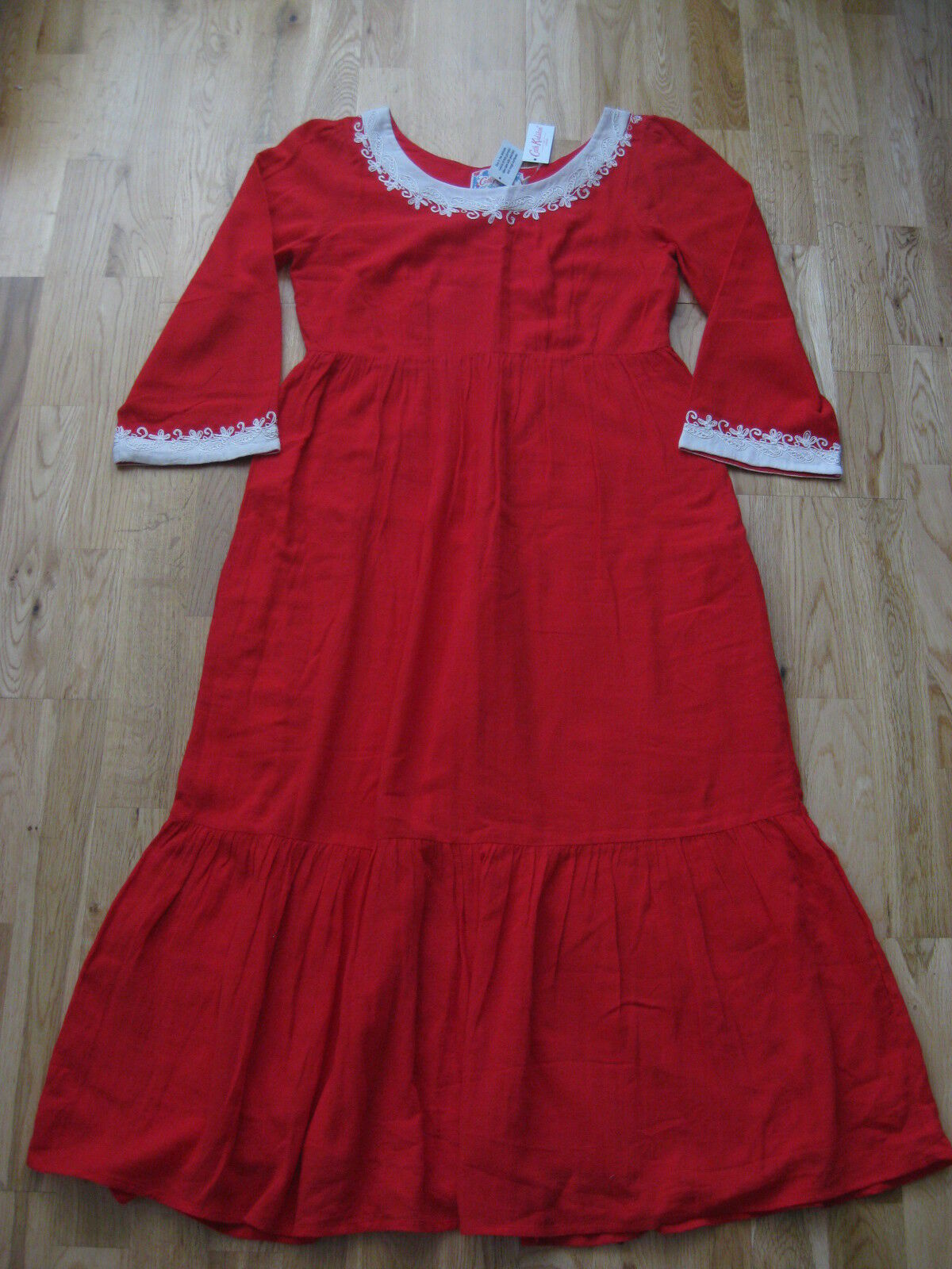 New Cath Cath Cath Kidston red dress Size 8 d056d9