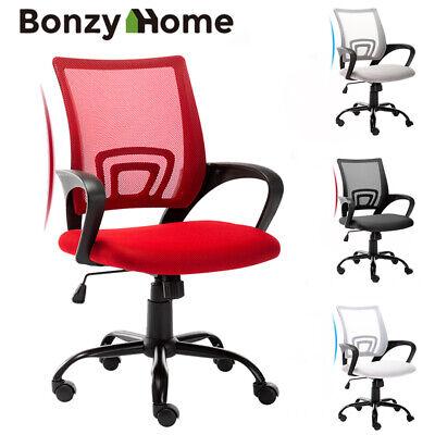 Ergonomic Mesh Office Chair 360 Swivel Computer Desk Chair Heavy Duty Metal Base Ebay