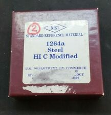 Nist Standard Reference Material 1264a High Carbon Steel Modified