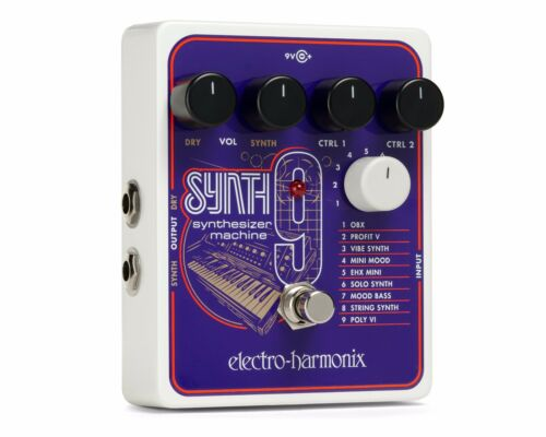 New Electro-Harmonix EHX SYNTH9 Synthesizer Machine Guitar Pedal Synth 9