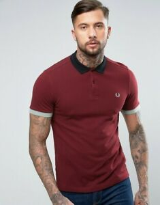 7944f8600cf Details about Fred Perry Men's Colour Block Pique Polo Shirt Short Sleeved  Top M2516-799