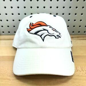 Denver-Broncos-NFL-Football-039-47-Brand-White-Strapback-Low-Profile-Dad-Hat-Cap