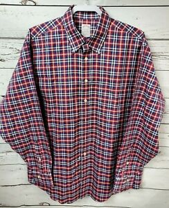 Brooks-Brothers-Madison-Men-039-s-Large-Non-Iron-Supima-Cotton-Plaid-Checked-Shirt