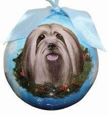 "LHASA APSO -- E & S Shatterproof 3"" Ball Ornament -- New Gift Box"