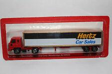 """Playart Majorette Road Champs """"Hertz Rent-a-Car"""" Semi Truck Blister Packed"""