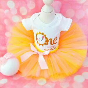 Baby Girl First 1st Anniversaire Costume Tutu Robe de Soirée Gâteau Smash Photo Shoot Bow