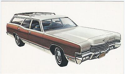 "1973 Mercury MARQUIS COLONY PARK /""Woodie Wagon/"" Dlr Promo Postcard UNUSED Ex ^"