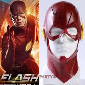 New-Arrived-The-Flash-Allen-Cosplay-Helmet-Halloween-Full-Face-Latex-Mask-Hood
