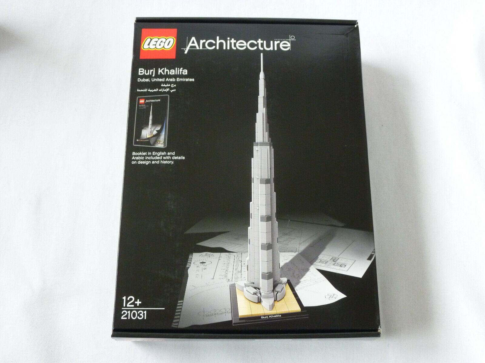LEGO Arkitektur 21031 Burj Khalifa, New Seaed MISB Pensionerad