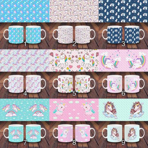 Mignon Licorne Poney Rainbow Mystique girly design unique Tasse De Café Cadeau Ensembles