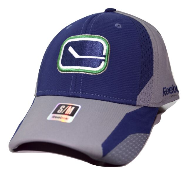 fcfcf60a54b Vancouver Canucks Reebok Tt20z NHL Practice Cap Stretch Fit Blue Hockey Hat  S m for sale online