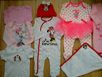 Amazingnew Bundle Outfits Minnie Baby Girl Clothes 3/6 Mths(2.3)nrc27