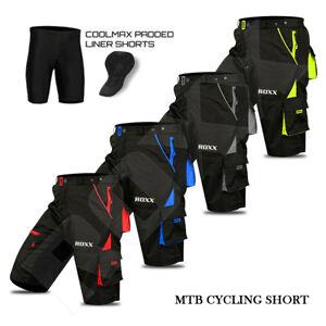 Pantalones-cortos-de-bicicleta-montana-MTB-ciclo-Off-Road-Acolchado-Pantalones-Cortos-Deportes-al