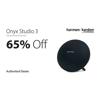 Harman/Kardon Onyx Studio 3 Portable Bluetooth Speaker + Mic HKONYXSTUDIO3BLKAM