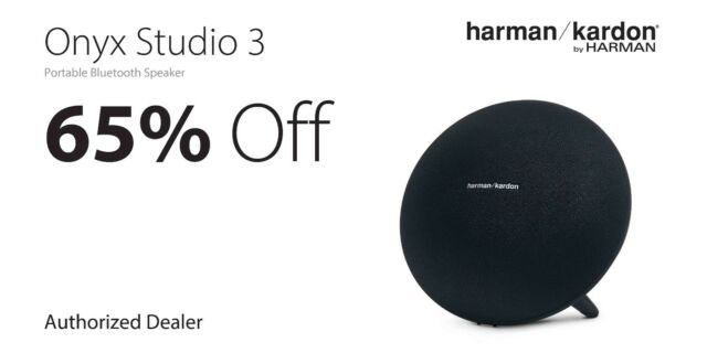 Harman/Kardon Onyx Studio 3 Portable Bluetooth Speaker + Mic HKONYXSTUDIO3BLKAM
