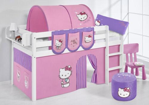 Spielbett surelevé lit enfant Jelle 190x90 CM BLANC LILOKIDS Hello Kitty violet