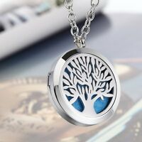 Essential Oil Diffuser Locket Pendant Necklace Perfume Aromatherapy +13 Pads【au】