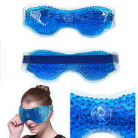 Beads Ice Gel Eye Mask Hot Cold Pack Warm Hot Heat Ice Cool Soothing Tired Eyes