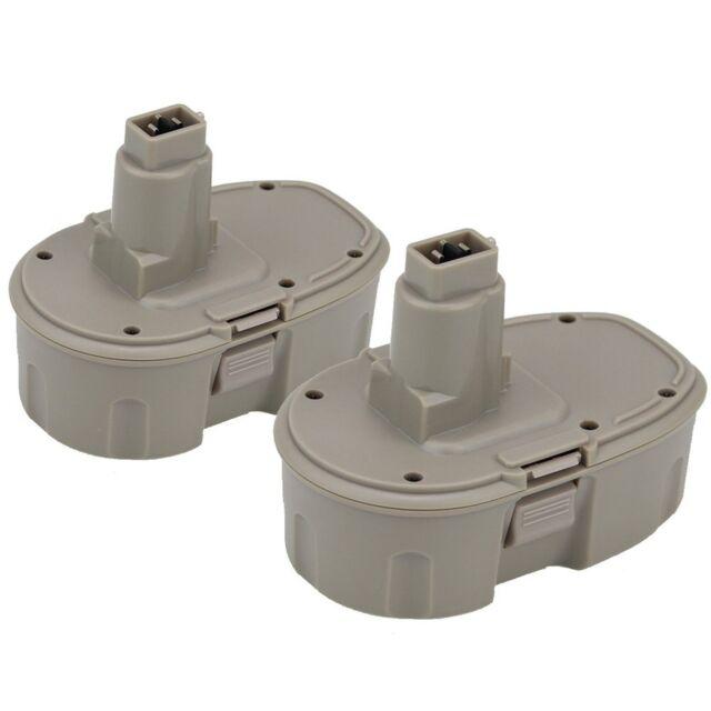 Topbatt 2Packs 18V 3.0Ah NI-MH Replacement Battery for Dewalt Cordless Tools ...
