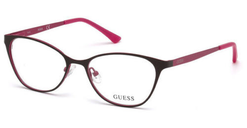 NEW Guess GU 3010 050 51mm Brown Optical Eyeglasses Frames