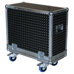 Diamond-Plate-Rubberized-Laminate-ATA-3-8-034-Case-for-Fender-FM-212R-Amp
