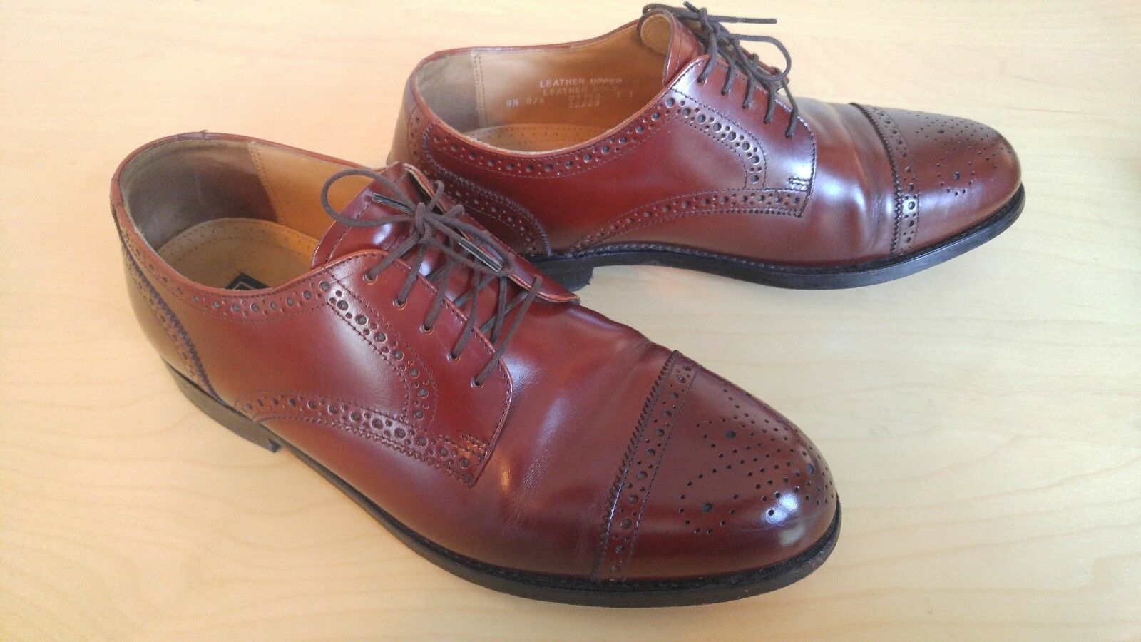 Bostonian Crown Windsor First Flex Oxford Leather Mens 1/2 Shoe - Size 9 1/2 Mens D/B c9daf5