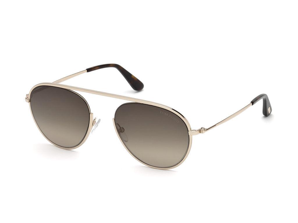 lunettes de soleil TOM FORD FT0599 or rosés poli poli poli Marron  Nuancé 28K a5f3ca