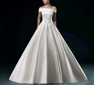 Off Shoulder WhiteIvory Satin