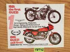 Moto Guzzi  V50 Monza V50-III V50 III 500 prospectus brochure dépliant publicité