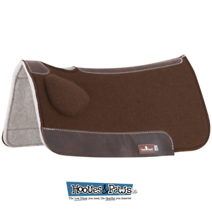 Classic Equine BioFit Correction Western Saddle Pad Brown 31 X 32