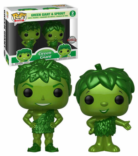 FUNKO POP GREEN GIANT AND SPROUT METALLIC 2 PACK EXCLUSIVE VINYL FIGURE