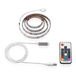2m led streifen rgb stripe licht leiste band 5050 smd lichtschlauch farbwechsel ebay. Black Bedroom Furniture Sets. Home Design Ideas