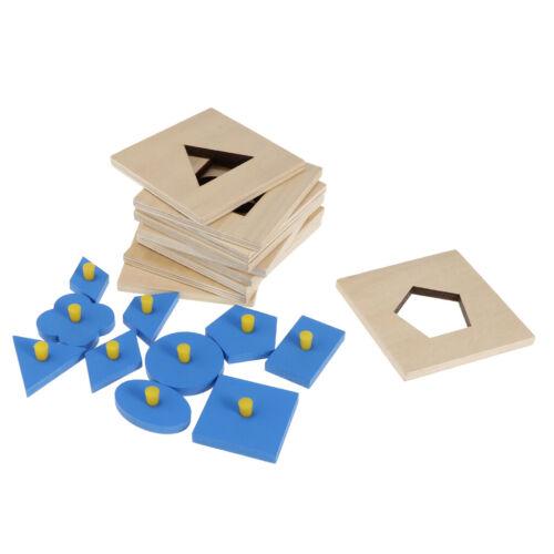 Blaue hölzerne geometrische Figur geformt Peg Puzzles Kleinkind Vorschule