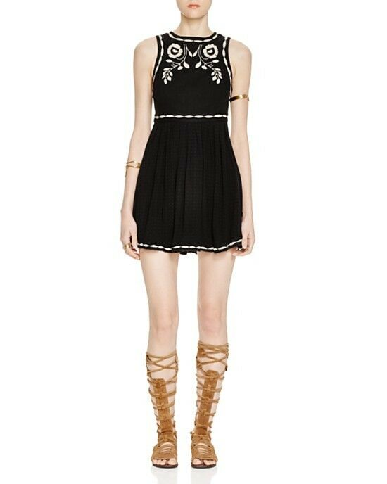 NWT Free People 'Birds of a Feather' Embroiderot Mini dress Retail
