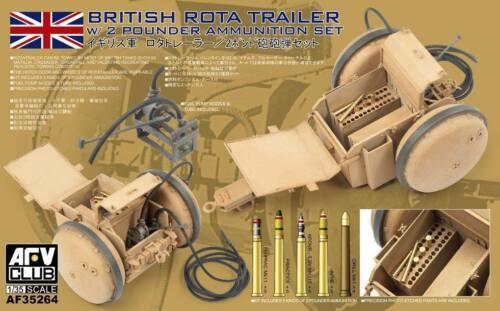 ROTA Trailer w//2 pounder Amm Set AFV35264 1//35 AFV CLUB Brit