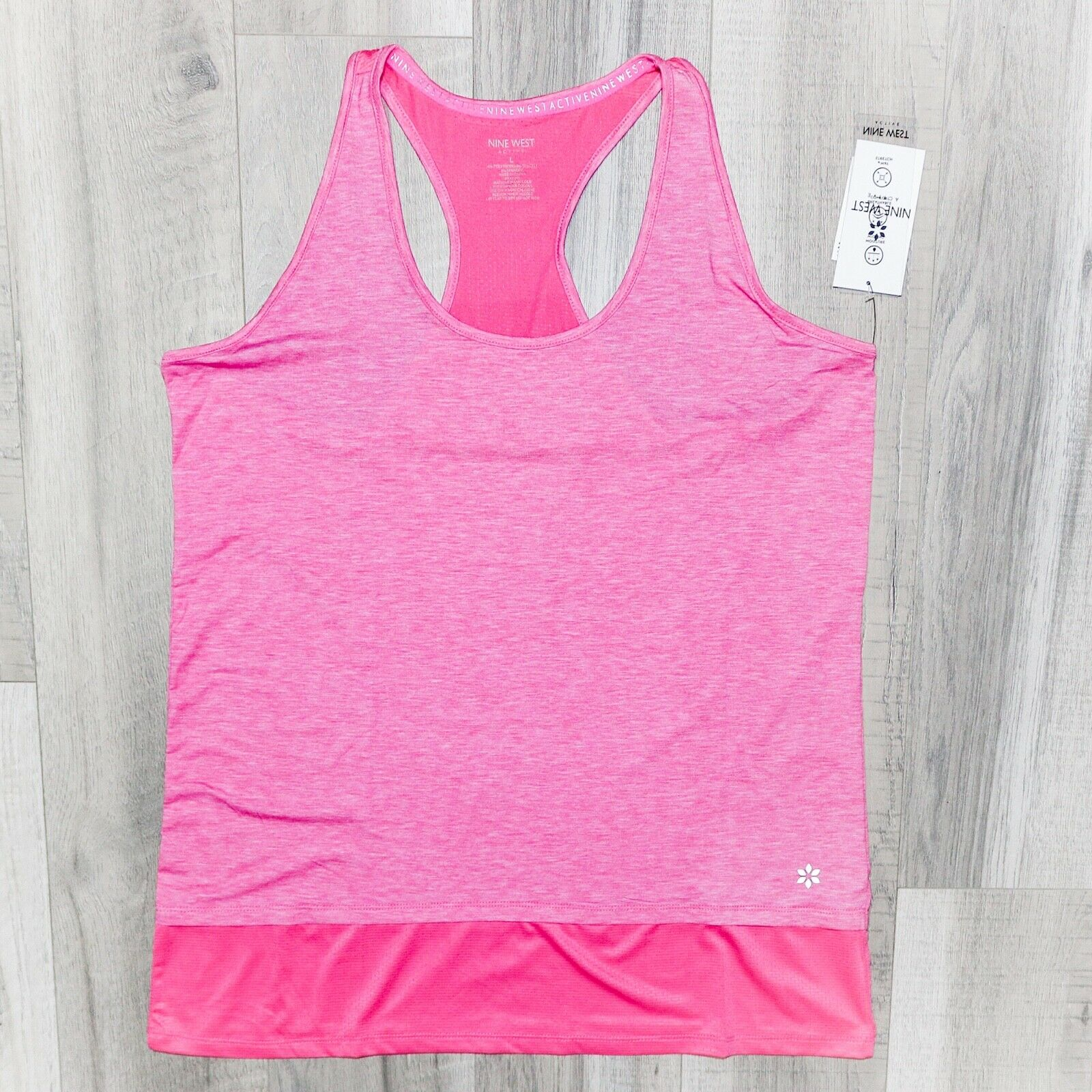 Nine West Active Racer Back Pink Tank Top. Size Large. New With Tag.