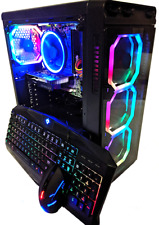 i7 Custom Gaming Desktop PC - GeForce GTX 1660, SSD+HDD, 16GB, Windows 10, WiFi