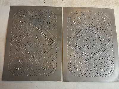 New handcrafted distressed rusty tin FEDERAL STAR CABINET panel// 10x14