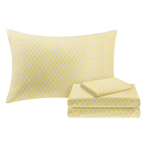 BEAUTIFUL CONTEMPORARY CHIC GREY SILVER YELLOW FLOWER COMFORTER SET /& SHEETS