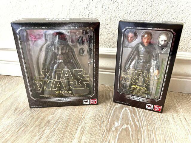 """NEW Sealed S.H. Figuarts Star Wars Darth Vader Luke Skywalker 6"""" Action Figures"""