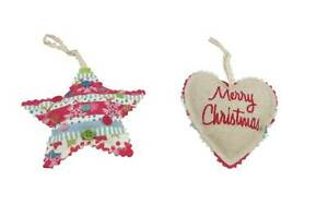 Gisela-Graham-Christmas-Decoration-Fabric-Heart-and-Star-Tree-Hanging-Decs