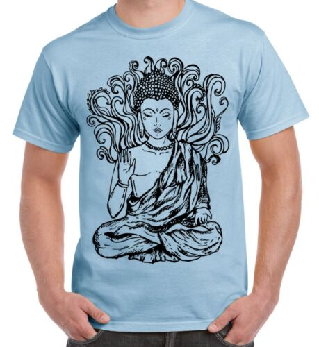 Buddha Design Large Print Men/'s T-Shirt Buddhist Buddhism Meditation